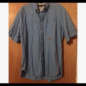 Tommy Hilfiger Blue and White Button Down